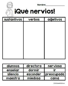 Que nervios! (First Day Jitters in Spanish) book study and activities for the first day of school or first week of school in Spanish. Great for 1st, 2nd, 3rd and 4th grade bilingual classrooms. Actividades para el primer dia de la escuela en espanol que v