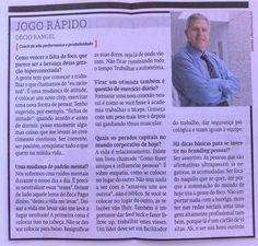 Jogo Rápido-Entrevista no Diário de Pernambuco, Caderno de Economia para os Dias 05 e 06 de novembro de 2016