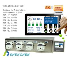 Model No:DF600 Category:Filling System(Intelligent Type) FlowRate:0.07-2280mL/min Product features Intelligent calibration and online micro adjusting function. Can be connected with foot pedal switch or received switch signal,to achieve external control. The unique motor working status output signal,for monitoring the filling status. #laboratory #peristalticpump #eliquid #vaping #fillingsystem Peristaltic Pump, Filling System, Vape, Model, Smoke, Electronic Cigarette, Scale Model, Vaping