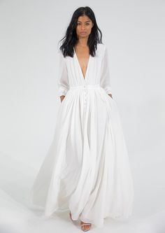 12 Stunning Minimalist Wedding Dresses via Brit + Co.