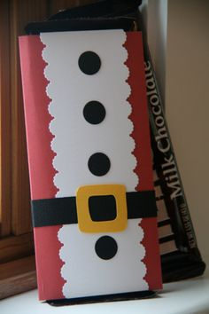 Items similar to Santa Suit Candy Bar Cover on Etsy Christmas Candy Bar, Noel Christmas, Christmas Gift Wrapping, Christmas Goodies, Diy Christmas Gifts, Christmas Projects, Christmas Decorations, Christmas Ornaments, Christmas Neighbor