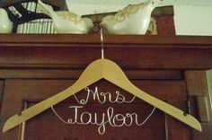 Bridal Hanger Mrs on Top for your wedding by BellsAndKisses, $24.97