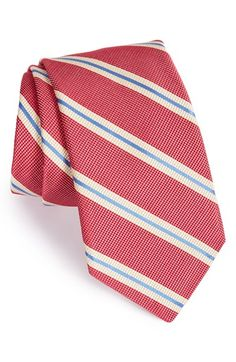 Men's Ike Behar 'Pick Stitch' Stripe Silk Tie