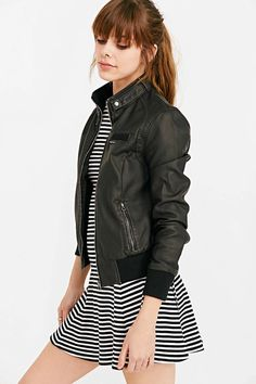 Members Only Inconi Vegan Leather Racer Jacket