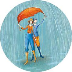 More from one of my favs Umbrella Art, Under My Umbrella, Marie Cardouat, Vincent Van Gogh, Showers Of Blessing, Art Carte, Magic Design, Rain Art, Kunst Online