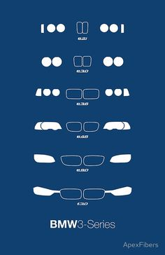 BMW 3-Series Heritage (E21, E30, E36, E46, E90, F30)