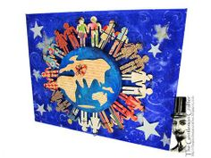 Jim, the Gentleman Crafter, shares this brilliant altered canvas for our Peace, Love and Art Graphic 45 Celebration  using various G45 collections #graphic45