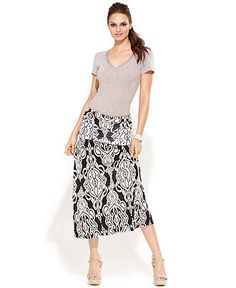 INC International Concepts Skirt, Convertible Exotic-Print Maxi - Skirts - Women - Macy's