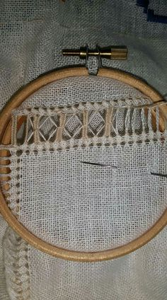 Hardanger Embroidery, Hand Embroidery, Muslin Curtains, Herringbone Stitch, Drawn Thread, Needle Lace, Embroidery For Beginners, Fashion Sandals, Natural Linen