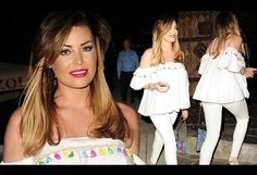 Jessica Wright showcases svelte figure in white jeans at LA dinner