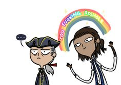 Haytham & Connor Kenway. Assassin's Creed III