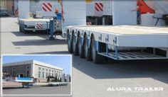 Extendable lowbed trailers by Alura Trailer