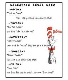 ideas for each day