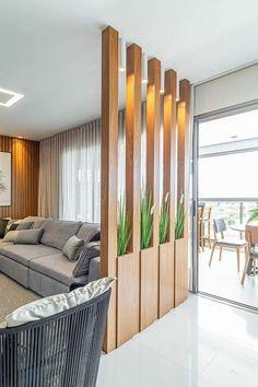 Home Room Design, Home Interior Design, Living Room Designs, Luxury Interior, Living Room Partition Design, Room Partition Designs, Partition Ideas, Home Living Room, Living Room Decor