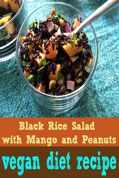 nice Black Rice Salad with Mango and Peanuts copy