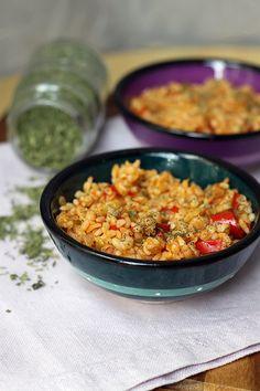 Turkish Bulgur Pilaf - add cumin (1 tbls) & paprika (1 tsp).