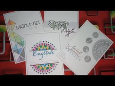 Front Page Design For School Projects ( Social Science Mathematics, History, English and Bengali ) Front Page Design, Page Borders Design, Border Design, Math Projects, School Projects, Design Projects, File Decoration Ideas, Page Decoration, Diy Notebook Cover For School
