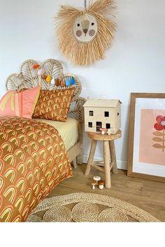 Moozle children's bedding printed organic cotton duvets and pillowcases Duvet Bedding Sets, Cotton Bedding, Rainbow Bedding, Interior Room Decoration, Cool Kids Rooms, Childrens Beds, Kids Artwork, Kids Prints, Kid Beds