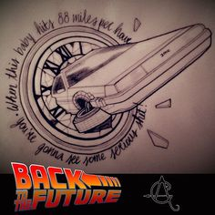 anna_giongo has this design going for back to the future day tomorrow . First Tattoo, I Tattoo, Back To The Future Tattoo, Future Days, Sweet Tattoos, Under My Skin, Future Tattoos, Drawing Tips, Tattoo Inspiration