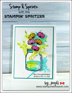 Stamp and Spritz for Cool Stampin Tools card by Sandi @ stampinwithsandi.com  #stampinup #stampinwithsandi #cardmakingtechniques #stampinupcardideas