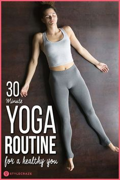 If all you've got is 30 minutes in the morning to exercise, what do you do? A custom 30 minute yoga routine will make your life better. And, all you got to do is roll out your mat for just 30 minutes and practice.Cardio only burns a particular variet Pilates, Yoga Am Morgen, 30 Minute Yoga, Yoga Posen, Yoga Photography, Yoga Poses For Beginners, Morning Yoga, Yoga Routine, Health Routine