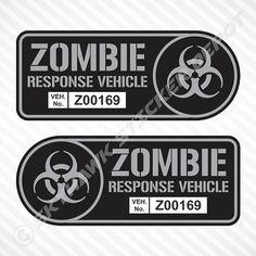 Zombie Walking Dead Skull Car /& Truck Tag License Plate Accessories Decor Parts