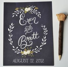 Hand Painted Wedding Signs From The First Snow. So pretty!