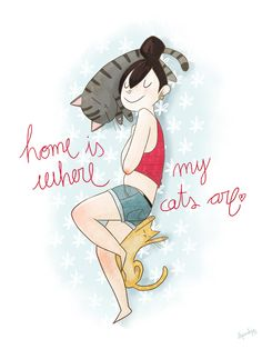 Home is Where my Cats are - What more to say other than we just LOVE cool stuff! Check out our store for even more COOL stuff! <3