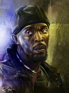 Omar Little, The Wire -Robert Bruno The Wire Hbo, 21st Century Fox, Pop Culture Art, Cinema, Black History Facts, Realistic Paintings, African American Art, Peaky Blinders, Black Art