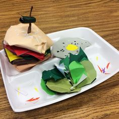 I promised some of my 6th grade art students that I would post their OUTSTANDING art work on IG. We were studying different food trays and they were to sketch out and create their own. They could only use paper, glue and scissors to create their relief paper sculpture food trays. #MiddleSchoolArt #ReliefSculptures
