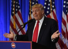 US President-elect Donald Trump speaks during a press conference January 11, 2017 at Trump Tower in New York..Trump held his first news conference in nearly six months Wednesday, amid explosive allegations over his ties to Russia, a little more than a week before his inauguration. / AFP / TIMOTHY A. CLARY        (Photo credit should read TIMOTHY A. CLARY/AFP/Getty Images)