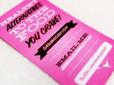 Business Card for blog website. #pink