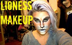 HEY GUYS! here is my lioness makeup creation! I would pair this with ears, a tail , some cool cat eye contacts and a cute animal print top or dress! THANKS F...