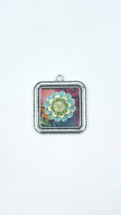A personal favorite from my Etsy shop https://www.etsy.com/listing/568494799/blue-and-green-flower-pendant-boho