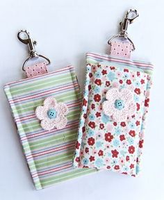 Iphone 4 cover using Twitterpated Designer Fabric from Stampin' Up!  TishaStamps.com