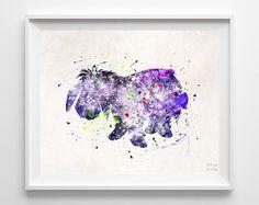 Eeyore, Pooh Type 1 Print