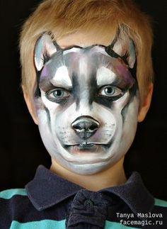 Husky. Face paint by Tanya Maslova.