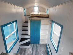 Recessed Stairs to Loft - French Storyteller by Tiny Idahomes