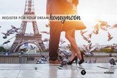 Register for your dream honeymoon and receive gifts you'll cherish for a lifetime. #honeymoon #honeymoonregistry #creatememories