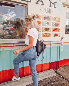 White tee + Mom jeans = instant classic : @joandkemp #TopshopStyle Tap to shop or shop via #linkinbio  via ✨ @padgram ✨(http://dl.padgram.com)