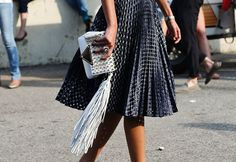 We can always get behind fringe that sways with our skirt.