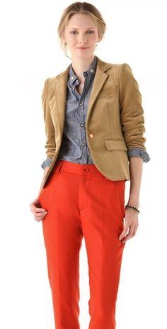 Boy. by Band of Outsiders Schoolboy Jacket + Capri cuffed trousers