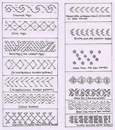 kantha running stitch variations - Google Search