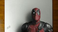 Realistic drawing of Deadpool.