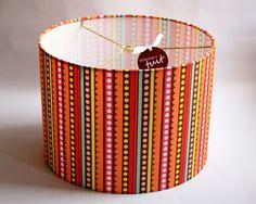 Custom lampshade featuring Zoe Pearn for Riley Blake Designs - Sweet Nothings - Brown Sweet Stripes.  www.etsy.com/shop/dmccaulla