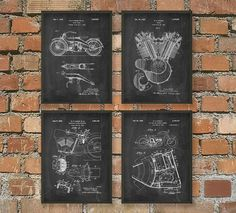 Hey, I found this really awesome Etsy listing at https://www.etsy.com/listing/188216860/harley-motorcycle-patent-wall-art-poster