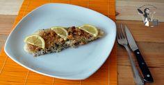 pesce persico in crosta di pane