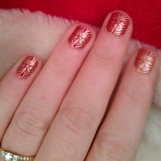 Last chance to get in an @moyou_london festive design using the festive 06 plate, using @rimmellondonus Rapid Ruby and Frankie My Dear which is the best gold I have found to date!! Had a few mishaps over Xmas so rocking some stumpy nubs. #moyoulondon #nailsnailsnails #nailartaddict #nails2inspire #nailartjunkie #nailartoohlala #nailsofinstagram #nailart #nailstagram #naildesign #rimmel