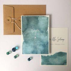 Waterverf geboortekaartje voor Kayra – Oh Pretty Paper