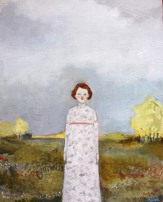 suddenly the color of the sky reminded louisa of every dream she had ever forgotten by amanda blake art, via Flickr